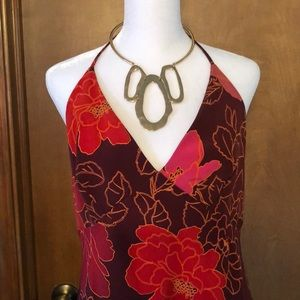 Vintage Floral Halter Dress by Express